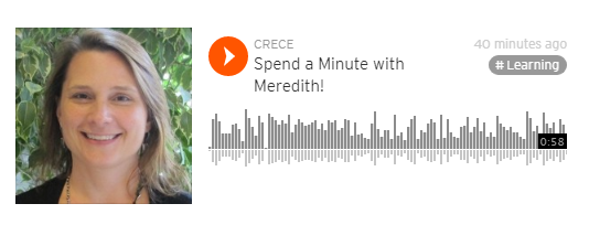 Minute with Meredith
