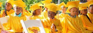 young students at a graduation ceremony
