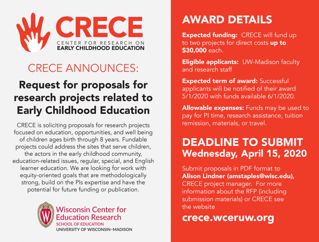 Request for proposals flyer 2020